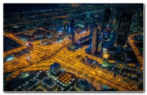 Dubai Roads HD Wallpaper
