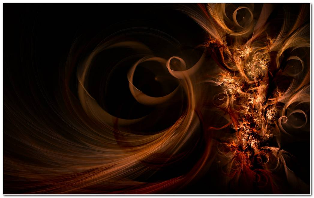 Elegant Dark Brown Swirl Background Wallpaper