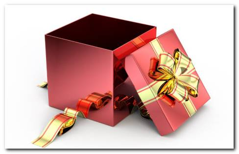 Empty Gift Box HD Wallpaper