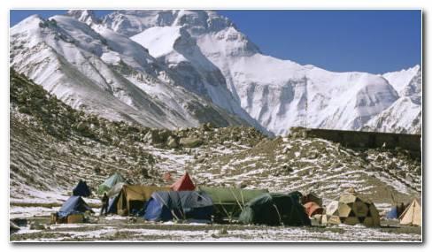 Everest Base Camp Tibet HD Wallpaper