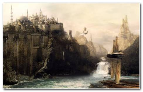 Fantasy Art Castles HD Wallpaper