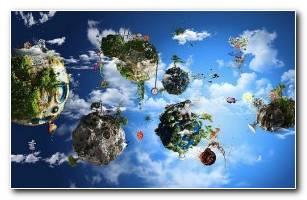 Fantasy World 3d HD Wallpaper
