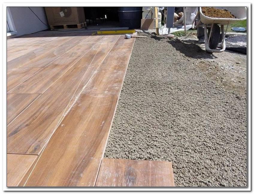Feinsteinzeug Terrasse Holz