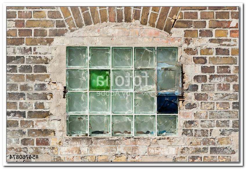 Fenster Aus Glasbausteinen Mauern