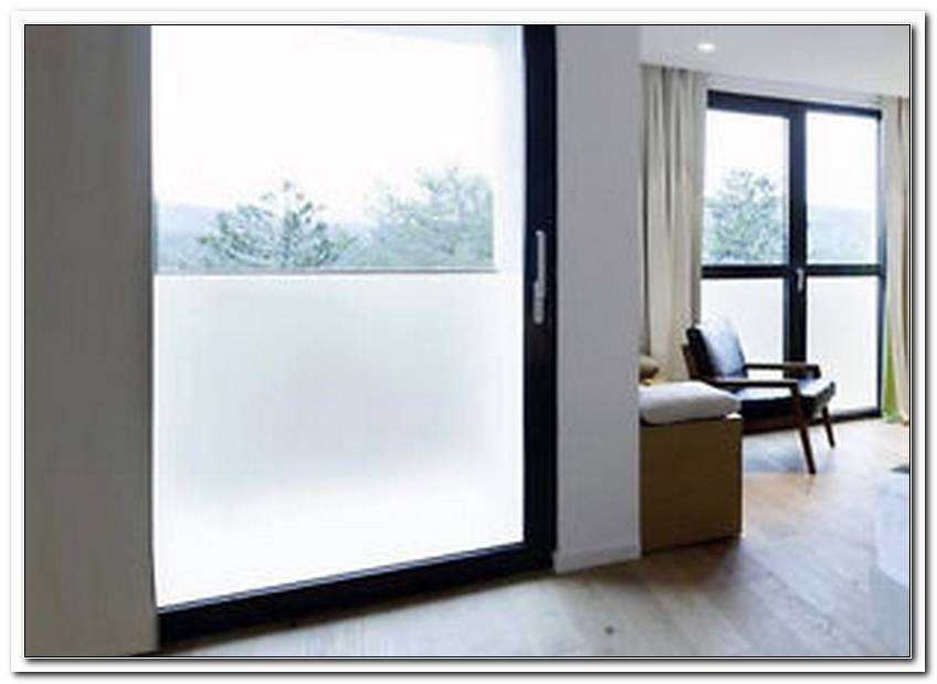 Fenster Blickdicht Streichen