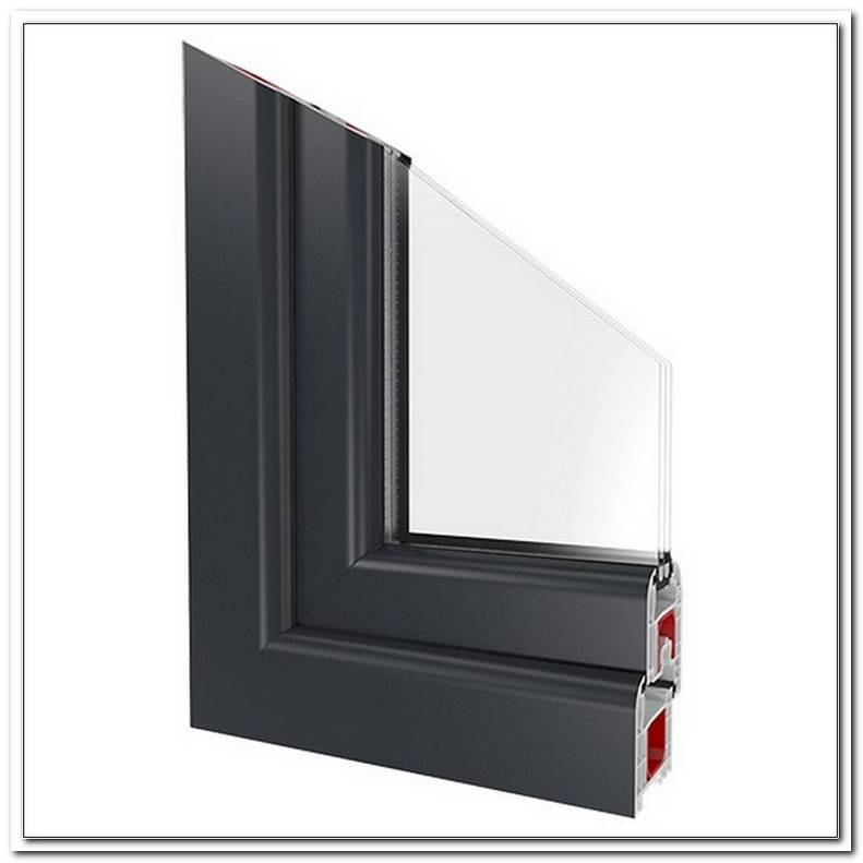 Fenster Kunststoff Anthrazit