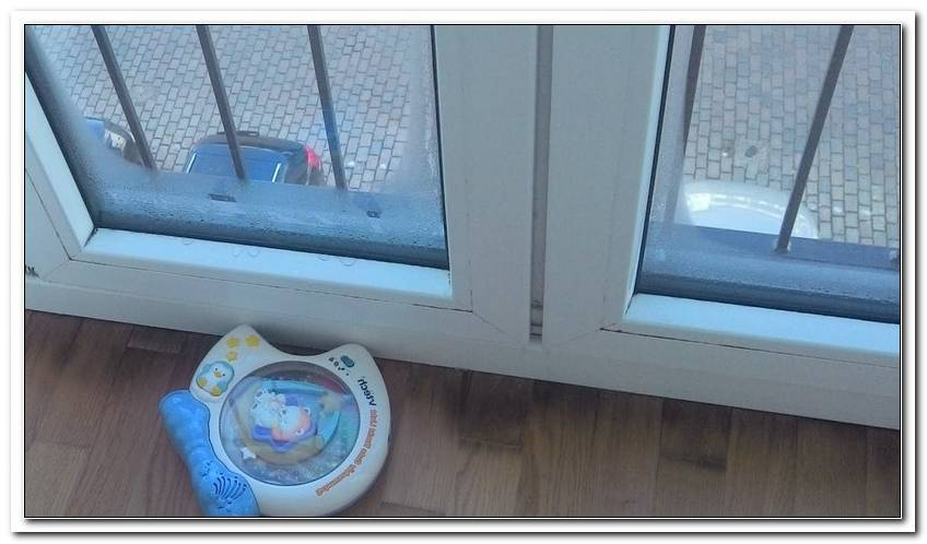 Fenster Von Au?En Gefroren