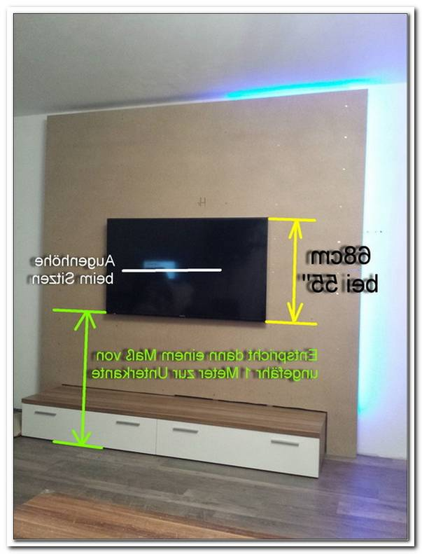 Fernseher An Die Wand H?He