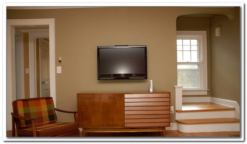 Fernseher An Die Wand H?Ngen Kabel Verstecken