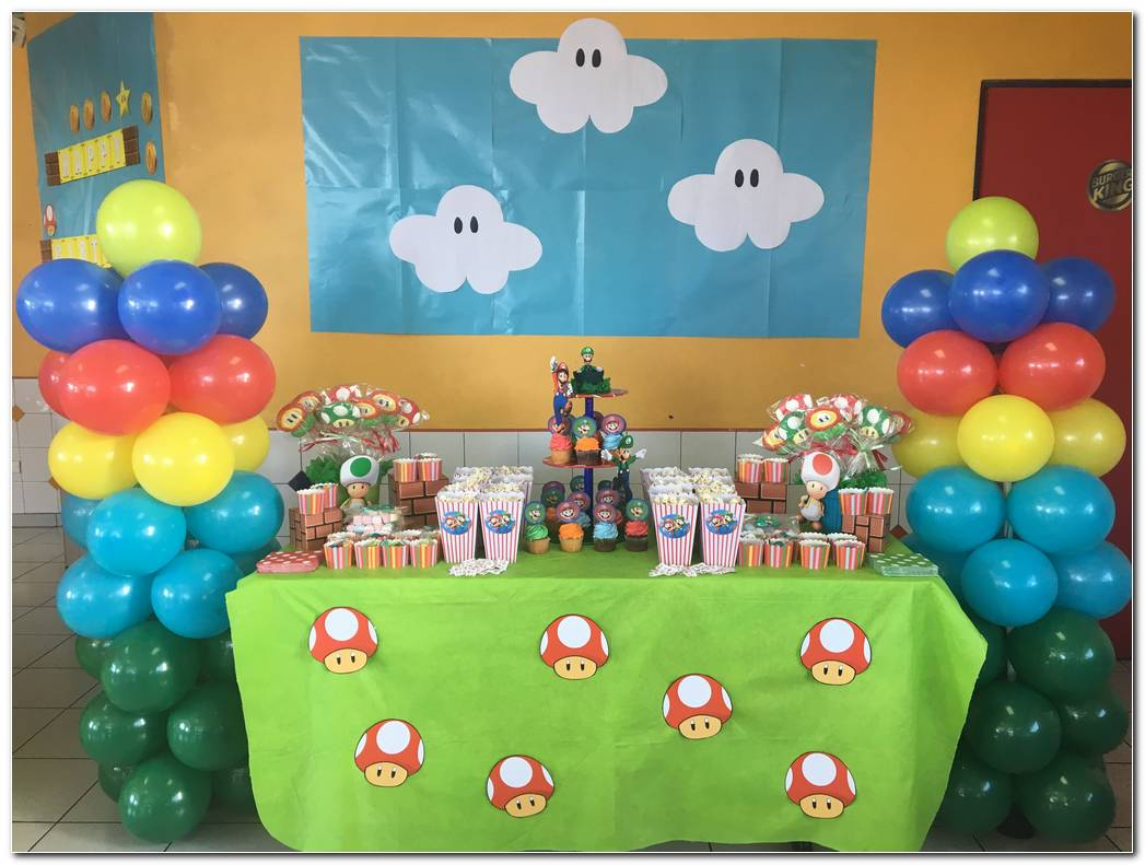 Fiesta Mario Bros Decoracion