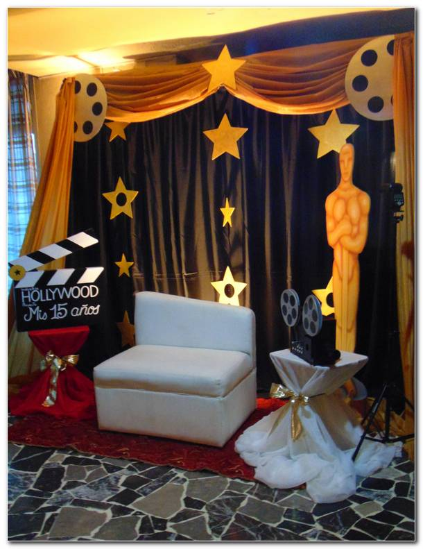 Fiesta Tematica Hollywood Decoracion