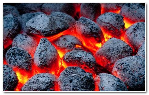 Fire Coals Color Wallpaper