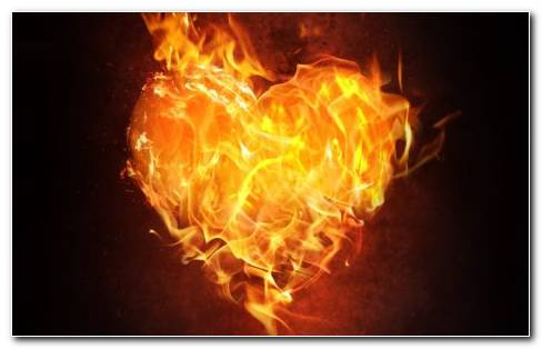 Fire heart HD wallpaper