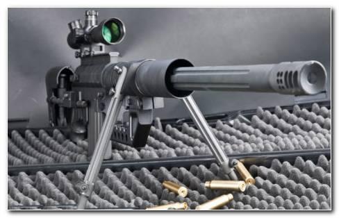 Firing Sniper Rifle HD Wallpaper