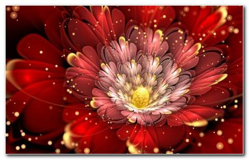 Flower Fractal Design Art