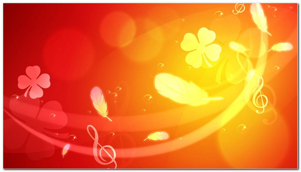 Flowers Orange Background Wallpapers