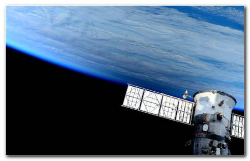 Flying Space Satellite HD Wallpaper