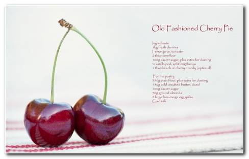 Food Cherry Fruit Berry Rustic Recipe Wallpaper