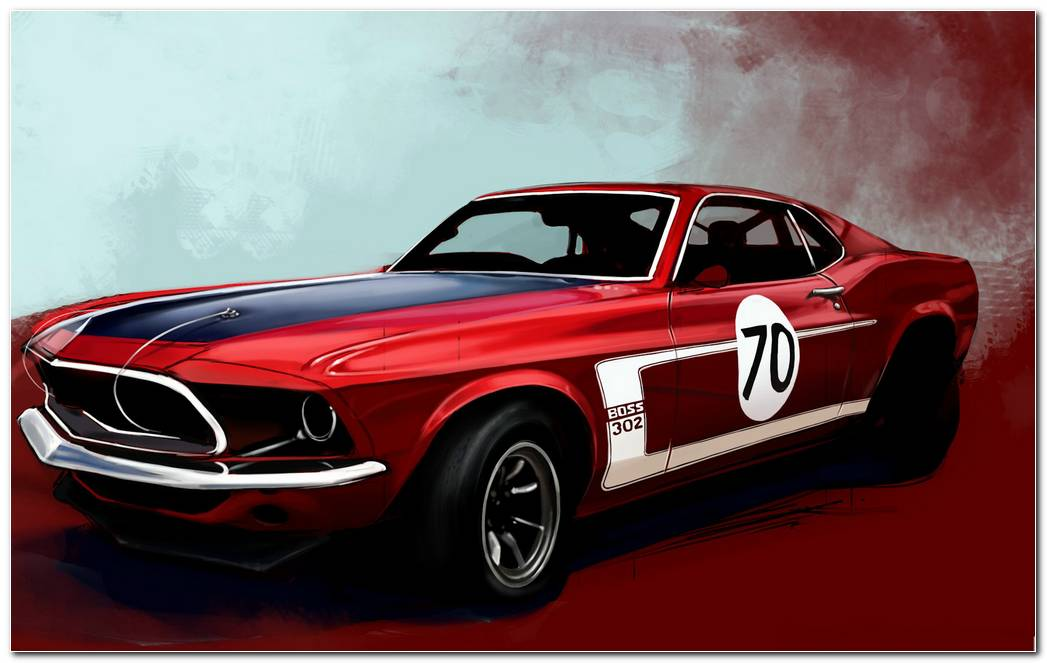 Ford Mustang Boss 302 Classic Muscle Car Wallpaper HD 1920x1200 (1)