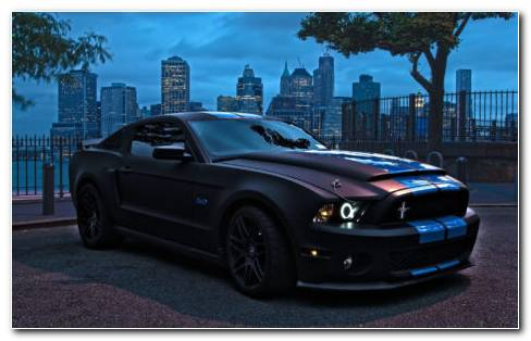 Ford Mustang In Night HD Wallpaper