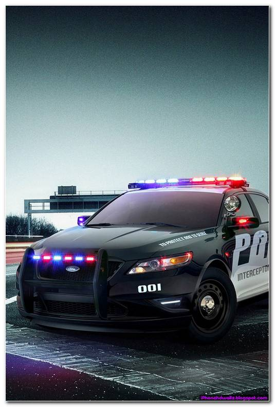 Ford Police Car Cool IPhone Wallpaper HD 640x960