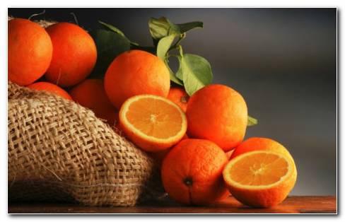 Fresh Oranges HD Wallpaper