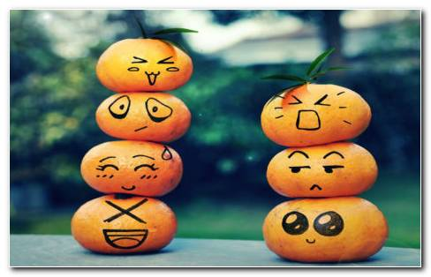 Fruit Emoticons HD Wallpaper