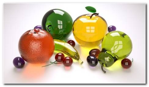 Fruits Made Of Glass HD Wallpaper