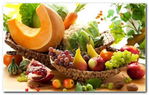 Fruits And Vegetables HD Wallpaper