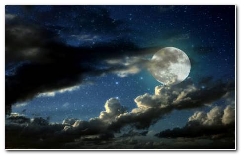 Full moon black clouds HD wallpaper