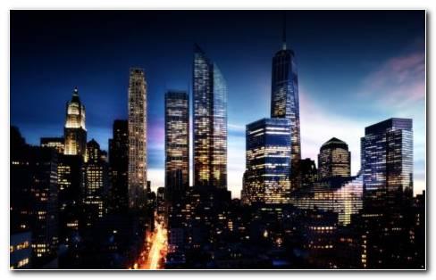 Future Manhattan Skyline HD wallpaper