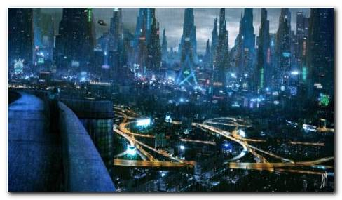 Futuristic City HD Wallpaper