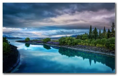 Garden Of Shining River HD Wallpaper