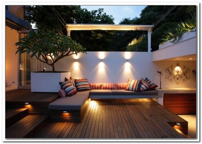 Garten Lounge Beleuchtung