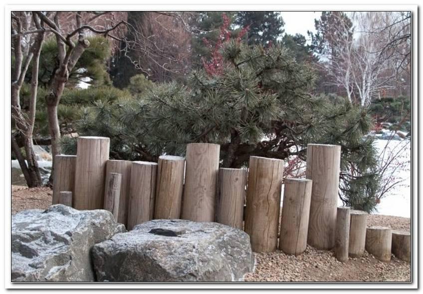 Gartengestaltung Holzpalisaden