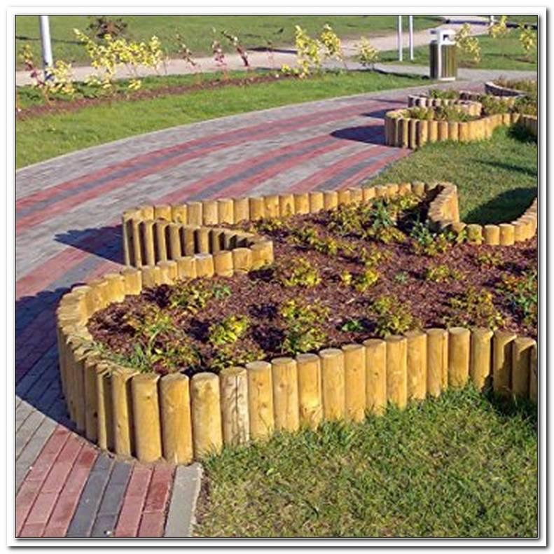 Gartenpirat Holzpalisaden