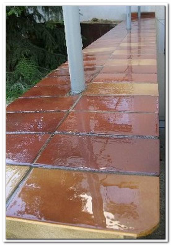 Geflieste Terrasse Undicht