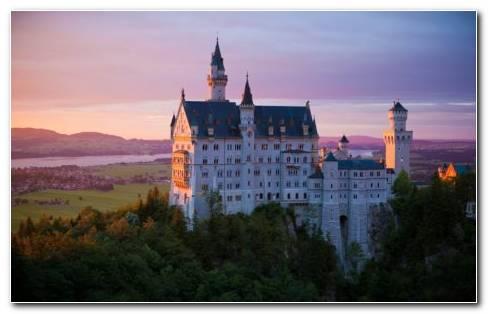 German Castle HD Wallpaper