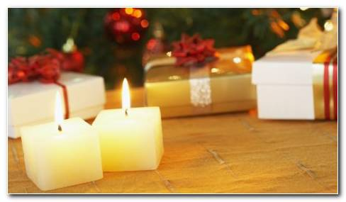 Gifts With Candle Wallpaper