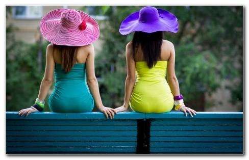 Girls With Sun Hats