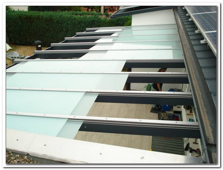 Glasschiebedach Terrasse