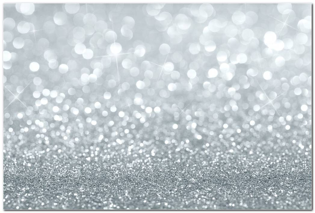 Glitter Print Silver Background Wallpaper