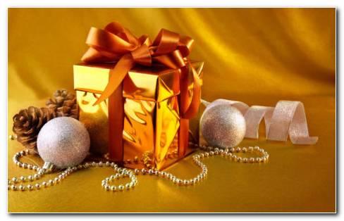 Gold Box Gift HD Wallpaper
