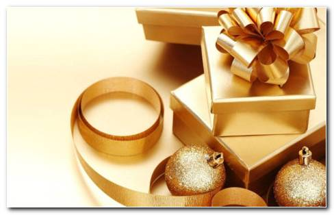 Gold Gift Box HD Wallpaper