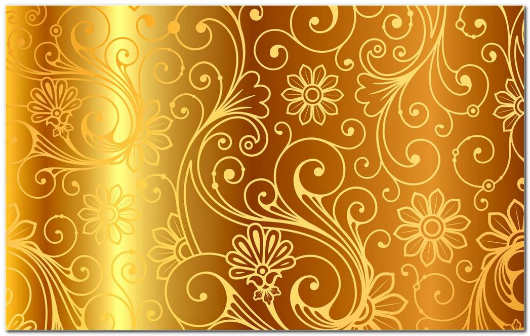 Golden Pattern Vintage Gradient Background Wallpaper