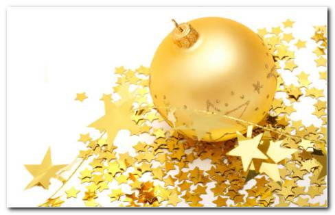 Golden Gift In Stars HD Wallpaper