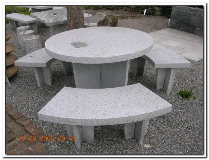 Granittisch Garten