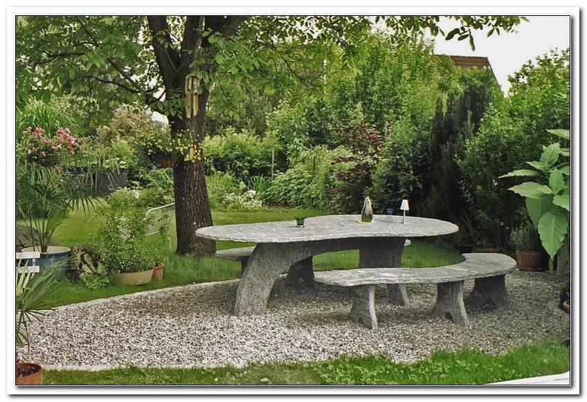 Granittisch Gartentisch