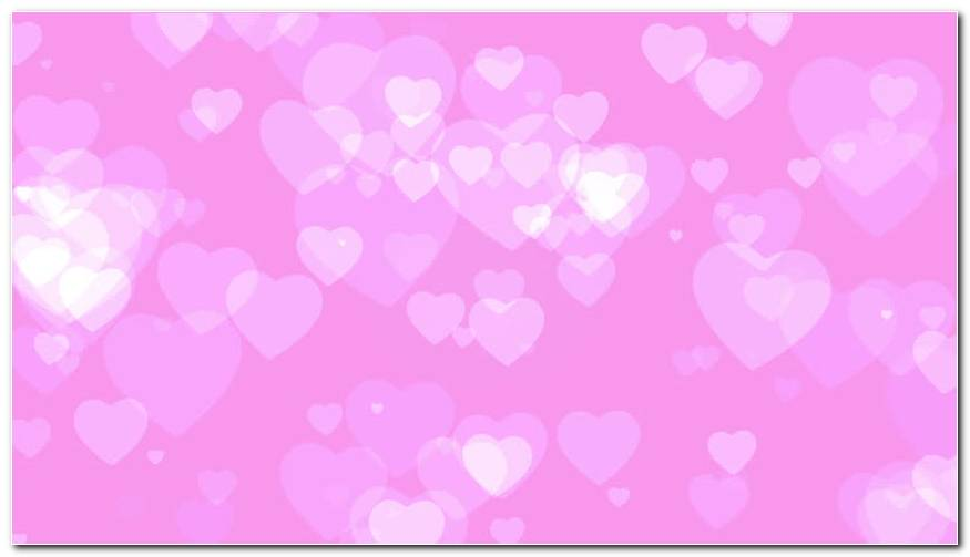 Graphical White Hearts Dancing On A Pink Background Wallpaper