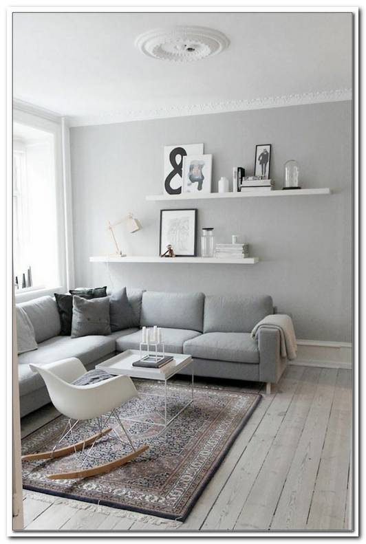 Grau Wei?Es Sofa